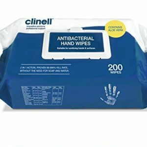 Clinell Antimicrobial Hand Wipes 200s