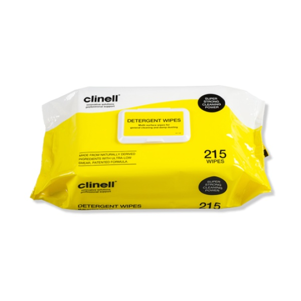 Clinell Detergent Wipes 215s